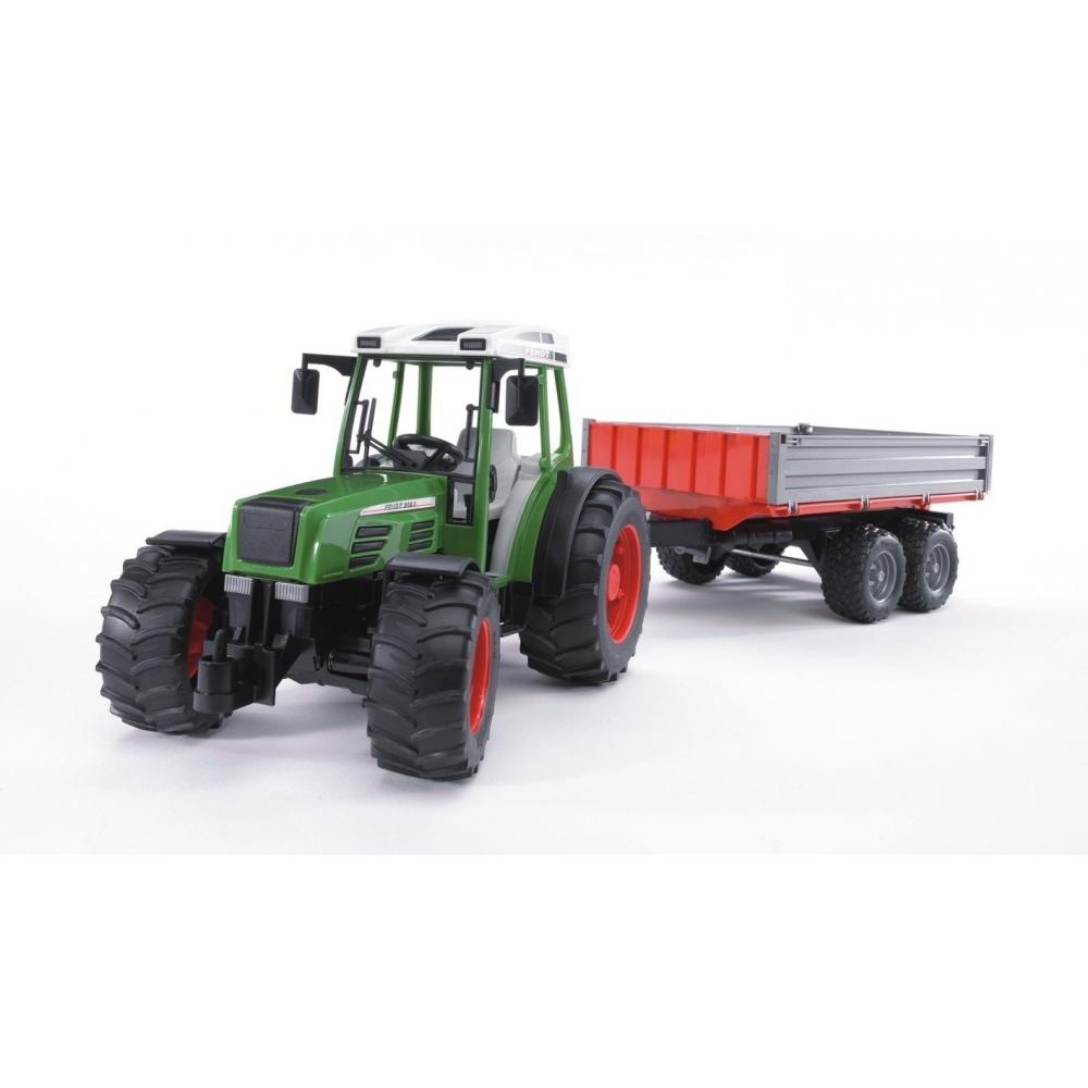 bruder fendt 209 s mit bordwandanh nger traktor mit kipper anh nger spielzeug spielzeugautos. Black Bedroom Furniture Sets. Home Design Ideas