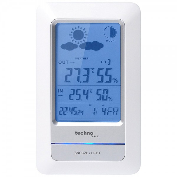 Technoline WS 6740 Weiss-Silber Wetterst #0809925_1