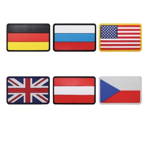 PVC KLETTABZEICHEN 3D AUFNÄHER GUMMI PATCH FLAGGE #36506_1
