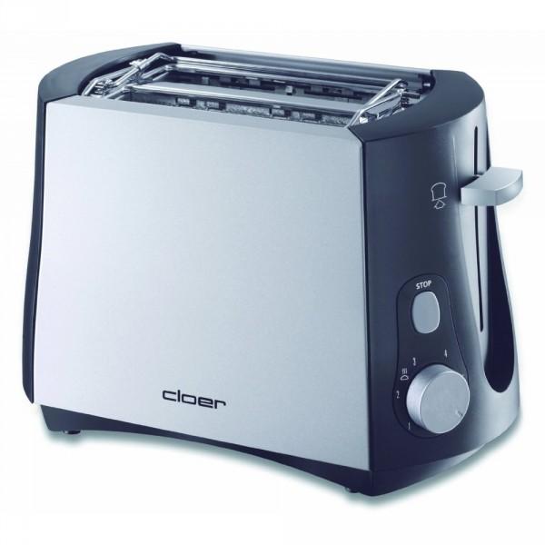 Cloer Toaster 3410 Silber-Schwarz Toastautomat #486002_1