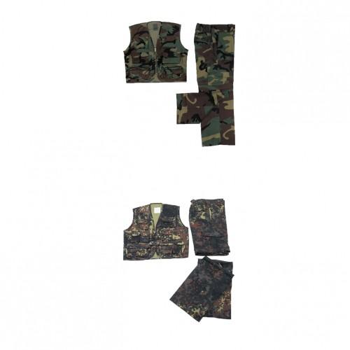 Anzüge Woodland Kinder Outdoor Kombi Weste Hose camouflage Outdoor Militär US Army Bekleidung