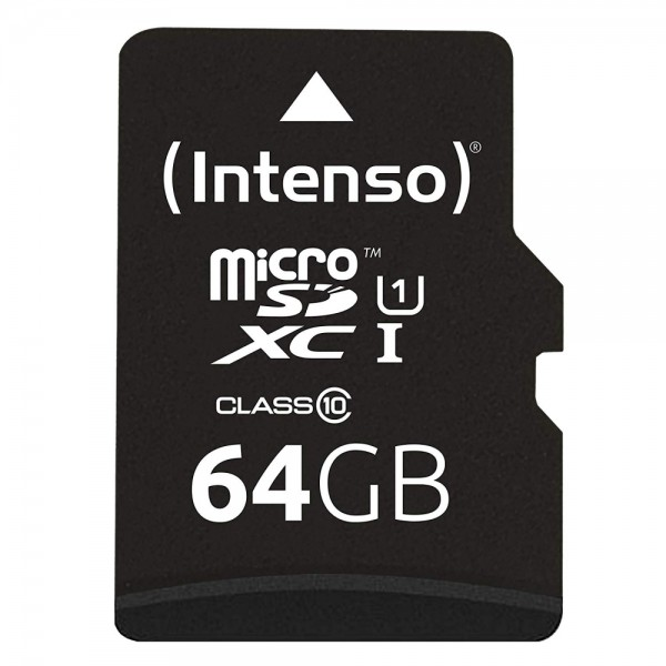 Intenso Micro SD Card 64GB UHS-I inkl. S #93499